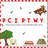 Picnic Pathways Game: 2 Syllable Closed Multisyllabic Words (short vowel sounds)