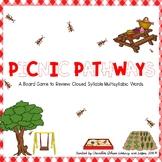 Picnic Pathways Game: 2 Syllable Closed Multisyllabic Word
