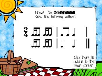 Picnic Patterns for Rhythm Practice {tika-ti}