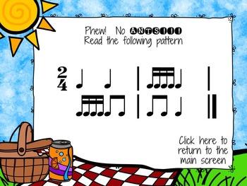 Picnic Patterns for Rhythm Practice {tika-tika}