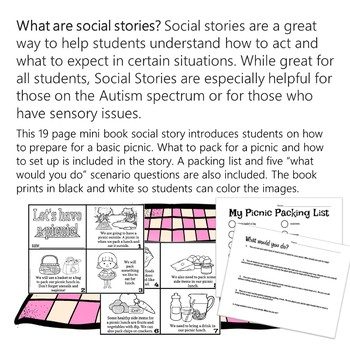 Picnic Social Story Mini Book