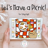Picnic Speech Therapy Activity: Digital Task Cards with BO