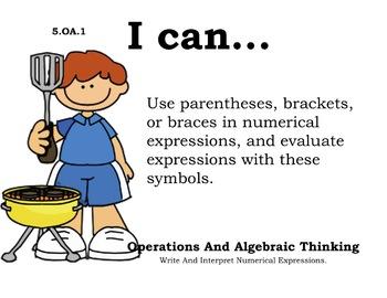 Picnic Theme 5th grade math Common Core Posters Fifth Grade Standards