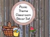 Picnic Theme Classroom Decor