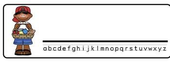 Picnic Theme Desk Nameplates (Set of Four)
