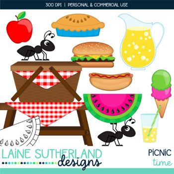 Picnic Time Clip Art Set