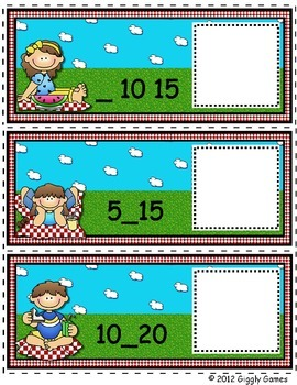 Picnic Time Skip Counting by 5 Envelope Center
