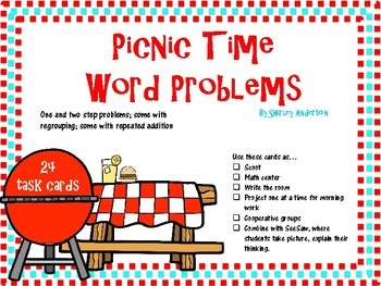 Picnic Time Word Problems