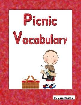 Picnic Vocabulary - Writing Workshop Resource