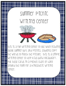 Picnic Writing Center