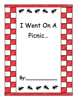 """Picnic Writing Journal, """"I Went On A Picnic..."""""""