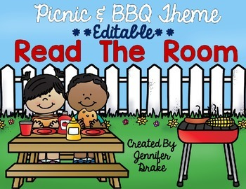 Picnic and BBQ Theme Read the Room EDITABLE