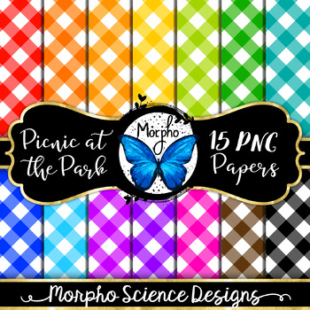 Picnic at the Park - Plaid Digital Papers - Candy Colored Pattern