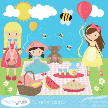 Picnic day clipart commercial use, vector graphics, digita