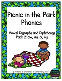 Picnic in the Park Phonics: Vowel Digraphs and Diphthongs Pack 2: aw, au, oi, oy