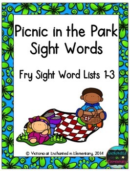Picnic in the Park Sight Words! Bundle of Fry Lists 1-3