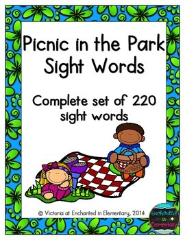 Picnic in the Park Sight Words! Complete Set of 220 Sight Words