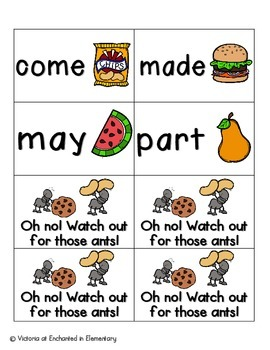 Picnic in the Park Sight Words! Fry List 1