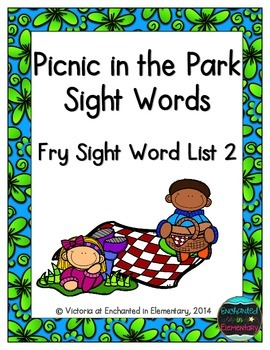 Picnic in the Park Sight Words! Fry List 2