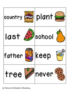 Picnic in the Park Sight Words! Fry List 3
