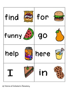 Picnic in the Park Sight Words! Pre-Primer List Pack