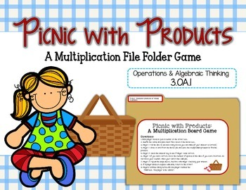 Picnic with Products: A Multiplication File Folder Game 3.OA.1