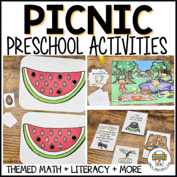 Picnics, Ants, and Watermelon Activity pack for Pre-k, preschool, and Tots