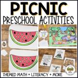 Preschool Picnic Ant and Watermelon Activities