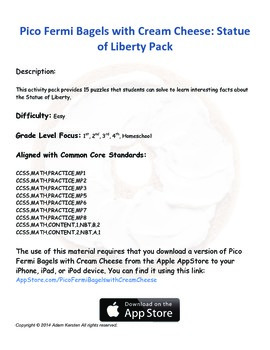 Pico Fermi Bagels with Cream Cheese: Statue of Liberty Pack