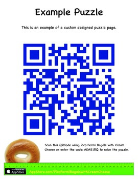 Pico Fermi Bagels with Cream Cheese: Make your own Puzzle Pages