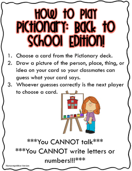Pictionary: Back to School Edition!