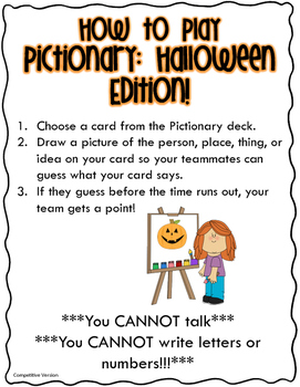 Pictionary: Halloween Edition!