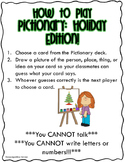 Pictionary: Holiday Edition!