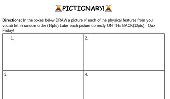 Pictionary: Physical Features