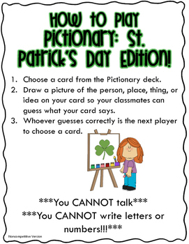 Pictionary: St. Patrick's Day Edition!