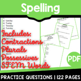 Spelling Practice | Independent Study Packet | Distance Le
