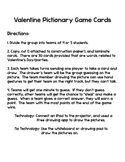 Pictionary Valentine Game Cards