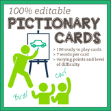Pictionary Word Cards - 100% Editable!