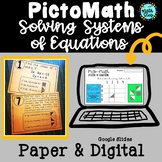 Solving Systems of Equations PictoMath Activity | PAPER & DIGITAL
