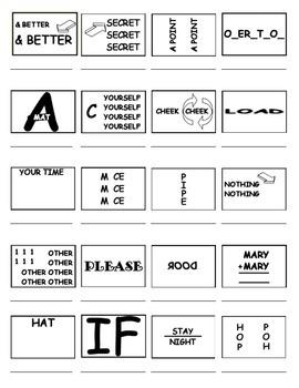 Pictogram Brainteasers (Rebus Puzzles/IQ Test)