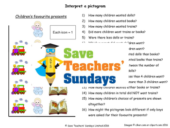 Pictogram worksheets (2 levels of difficulty)