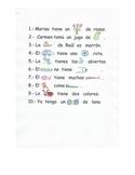Oraciones con pictogramas.
