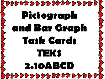 Pictograph Bar Graph Task Cards (TEKS 2.10ABCD)