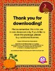 Pictograph Example - Thanksgiving Edition - FREE