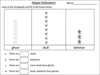 Pictograph Halloween Themed: