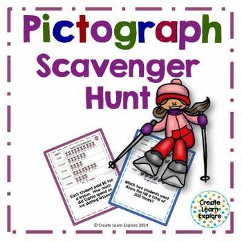 Pictograph Scavenger Hunt Winter Activities