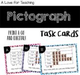 Pictograph Task Cards {Print & Go + Digital}