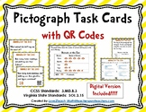 Pictograph Task Cards with QR Codes- Set 5