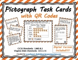 Pictograph Task Cards with QR Codes- Set 6
