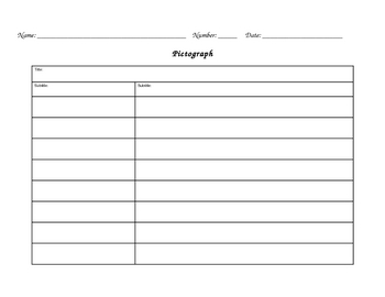 Pictograph Template for Student Use